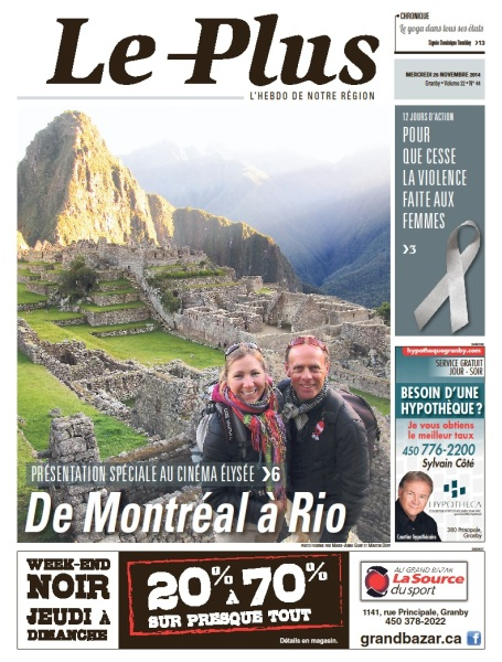 Page couverture du journal Le Plus